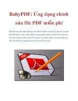 BabyPDF: Ứng dụng chỉnh sửa file PDF miễn phí ppt