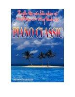 tuyển tập các bản nhạc và trích đoạn nổi tiếng dành cho piano classic