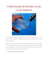 9 điều đơn giản để tiết kiệm chi phí và cứu hành tinh pdf