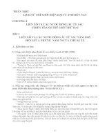 Đề cương ôn tập Lịch Sử Thi 10 PTTH