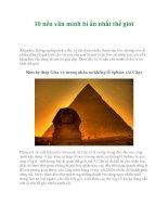10 nền văn minh bí ẩn nhất thế giới pot