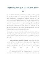Học tiếng Anh qua các trò chơi phiêu lưu pot
