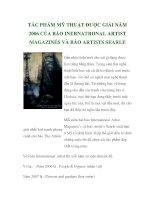 TÁC PHẨM MỸ THUẬT ĐƯỢC GIẢI NĂM 2006 CỦA BÁO INERNATRONAL ARTIST MAGAZINÉS VÀ BÁO ARTISTS SEARLE ppt
