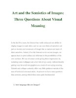 Art and the Semiotics of Images: Three Questions About Visual Meaning ppt