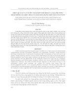 báo cáo nghiên cứu khoa học  ' hiệu quả xử lý nước thải dệt nhuộm của hai phương pháp đông tụ điện hóa và oxi hóa bằng hợp chất fenton'