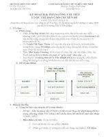 kế hoạch báo cáo chuyên đề Tin Học 10 ngày 7/3/2010