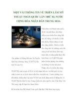 MỘT VÀI THÔNG TIN VỀ TRIỂN LÃM MỸ THUẬT TOÀN QUỐC LẦN THỨ XI, NƯỚC CỘNG HÒA NHÂN DÂN TRUNG HOA ppt