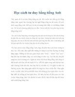 Học cách tư duy bằng tiếng Anh pdf