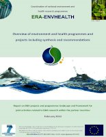 Overview of environment and health programmes and projects including synthesis and recommendations ppt