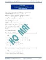 Khóa học LTĐH môn Toán Chuyên đề 2&3 -Phương trình vô tỷ- Thầy Trần Phương ppsx