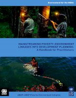 MainstreaMing Poverty-environMent Linkages into DeveLoPMent PLanning: a Handbook for Practitioners ppt