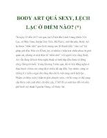 BODY ART QUÁ SEXY, LỆCH LẠC Ở ĐIỂM NÀO? pot