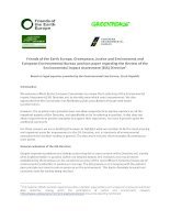 Friends of the Earth Europe, Greenpeace, Justice and Environment and European Environmental Bureau position paper regarding the Review of the Environmental Impact Assessment (EIA) Directive pdf