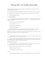 hướng dẫn viết tài liệu tham khảo