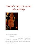 CUỘC ĐỐI THOẠI CỦA BẢNG MÀU SƠN MÀI pdf