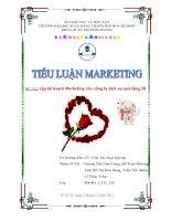 Đề Tài: Lập kế hoạch Marketing cho công ty dịch vụ quà tặng 2B pdf
