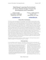 Web-Based Learning Environment: A Theory-Based Design Process for Development and Evaluation pdf