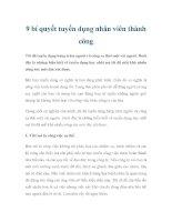 9 bí quyết tuyển dụng nhân viên thành công pdf