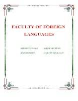 báo cáo ' faculty of foreign languages '