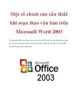 Một số chỉnh sửa cần thiết khi soạn thảo văn bản trên Microsoft Word 2003 ppsx