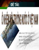 Đề tài: Ô nhiễm môi trường nước ở Việt Nam docx