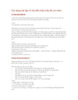 các dạng bài tập về câu điều kiện