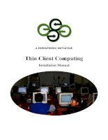 A HEMISPHERIC INITIATIVE Thin Client Computing Installation Manual pot