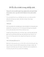 10 lỗi cần tránh trong nhiếp ảnh ppt