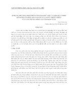 báo cáo nghiên cứu khoa học  '  áp dụng phương pháp phân tích bao dữ liệu và hồi quy tobit để đánh giá hiệu quả sản xuất cao su thiên nhiên của các hộ gia đình tại tỉnh kon tum'