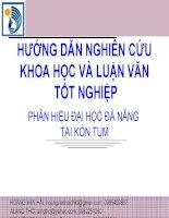 hướng dẫn nghiên cứu khoa học và luận văn tốt nghiệp_đhkt đà nẵng