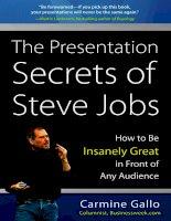 The Presentation Secrets of Steve Jobs pptx