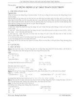 Phuong pháp sử dụng định luật bảo toàn electron