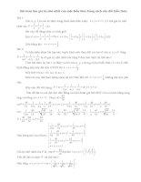 Tìm GTNN của biểu thức bằng cách cân đối hệ số