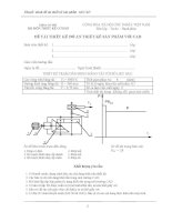 Đồ án môn học Chi tiết máy và thiết kế sản phẩm với cad