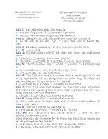 Đề Trắc nghiệm Tổng hợp -12 (2)