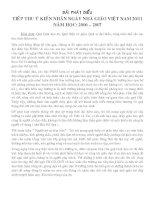 Phát biểu tiếp thu ý kiến của Hiệu trưởng, nhân ngày 20/11