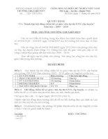 Thầy Hiệu trưởng ra QĐ thanh lập BGK chấm hồ sơ thi GVG cấp huyện