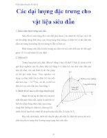 tiểu luận chuyên đề vật lý ' các đại lượng đặc trưng cho vật liệu siêu dẫn '