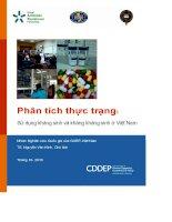 báo cáo phân tích thực trạng sử dụng kháng sinh