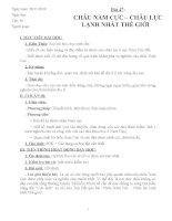 bài 47 Châu Nam Cưc chi tiết