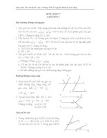 Bài tập nâng cao Hình học 7 Chương I,II