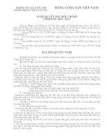 Mẫu Nghị quyết Đại hội chi bộ