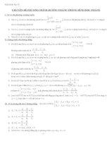 Chuyên đề phương trình đường thẳng trong mặt phẳng
