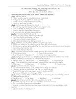 ĐỀ THAM KHẢO THI TỐT NGHIỆP PHỔ THÔNG  ĐỀ-03  MÔN: SINH HỌC