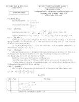 Đề thi vào lớp 10 môn toán tỉnh hải dương 2014