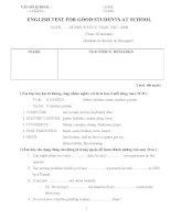 bài tập tiếng anh lớp 8 - 2009-2010