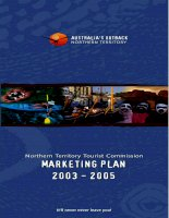 northern territory tourist commission marketing plan 2003 - 2005