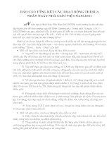 Báo cáo tổng kết các hoạt động thi đua chào mừng ngày 20/11