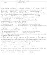 Đề kiểm tra 15'''' lý 9 (trắc nghiệm 10 câu)