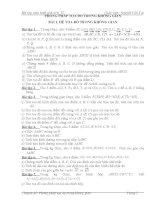 Bài tập PP tọa độ trong KG (Đầy đủ theo chủ đề)